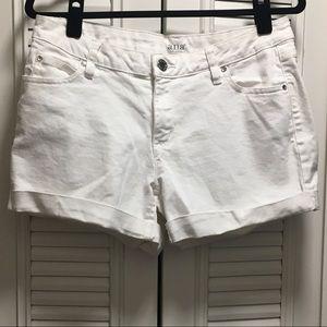 White Denim Shorts by a.n.a